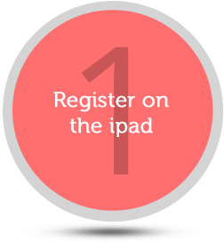 Register on the ipad