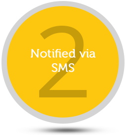 Notified via SMS