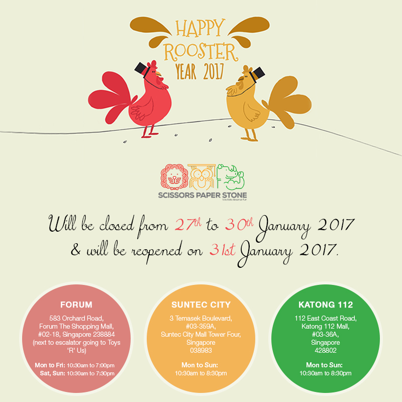 Happy Chinese New Year 2017 From Scissors Paper Stone