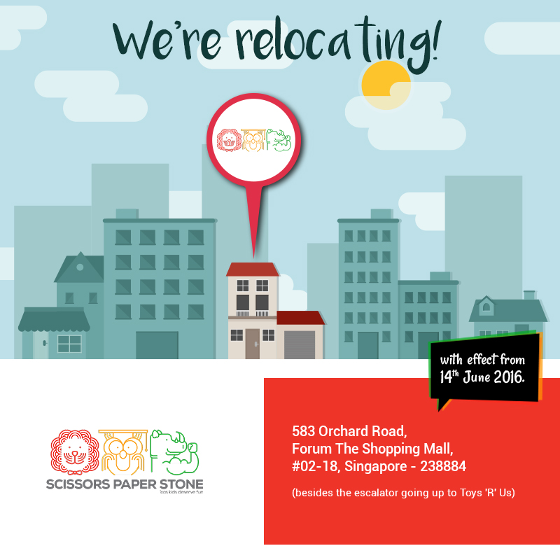 We Are Glad To Inform You That Your Favorite Kids Haircut Salon ScissorsPaperStone Is Relocating One Of Its Outlet New Address 583 Orchard Road